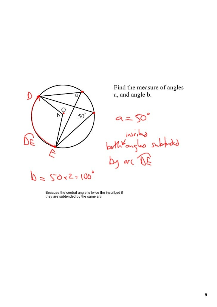 how to solve inscribed angles and intercepted arcs