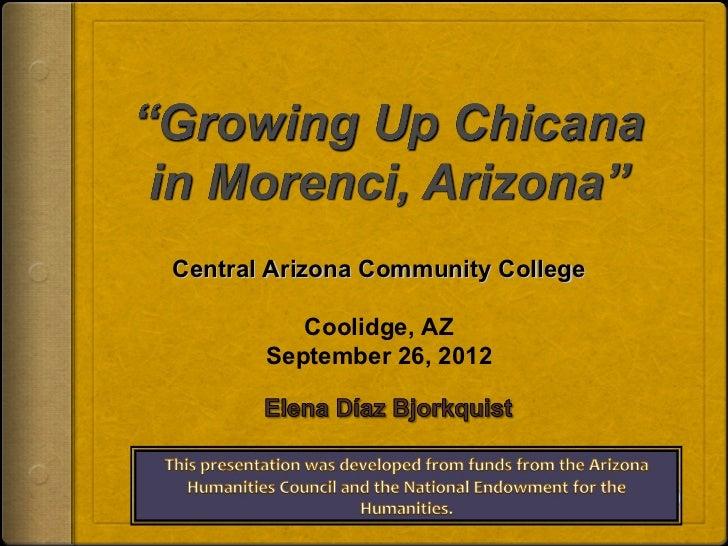 Central Arizona Community College          Coolidge, AZ       September 26, 2012