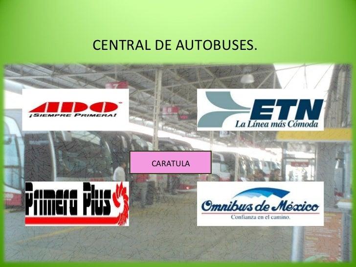 CENTRAL DE AUTOBUSES. CARATULA