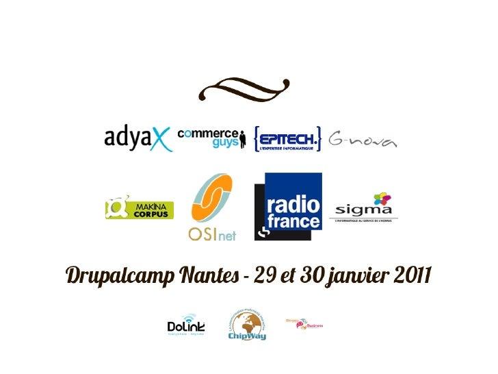 Drupalcamp Nantes - Centrale marseille