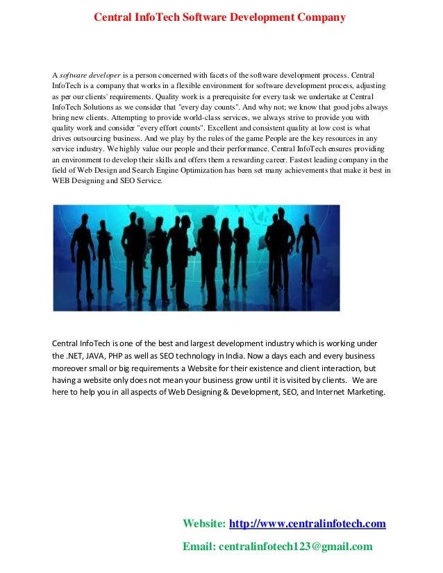 Central infotech software development company
