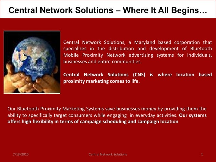Central Network Solutions – Where It All Begins…                            Central Network Solutions, a Maryland based co...