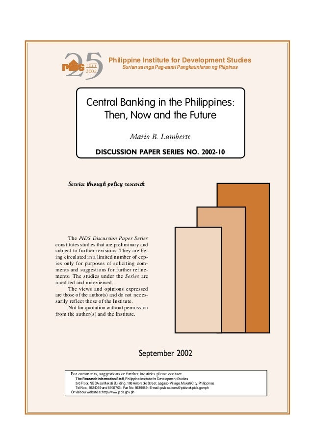 Central of the philippines   then, now and the future