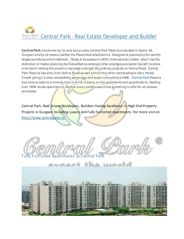 Top Real Estate Development Firms : Central park top real estate company