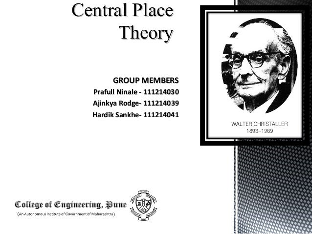 an overview of christallers central place theory