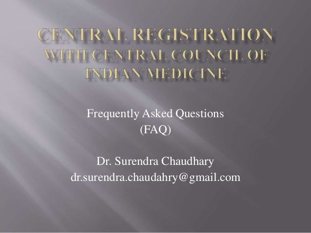 Central registration with CCIM