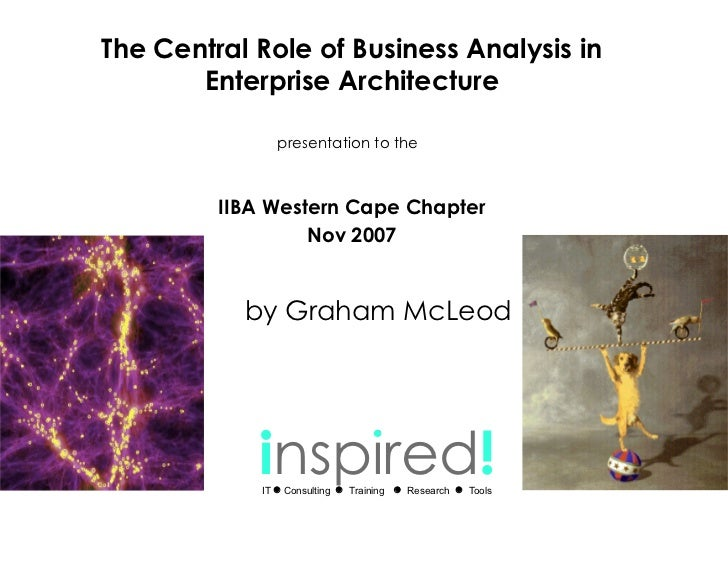 The Central Role of Business Analysis in EA