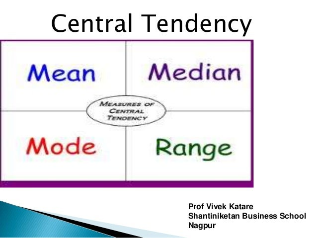Central Tendency          Prof Vivek Katare          Shantiniketan Business School          Nagpur
