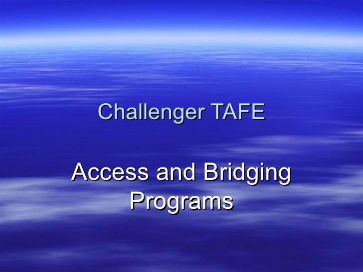 Challenger TAFE Access and Bridging Programs