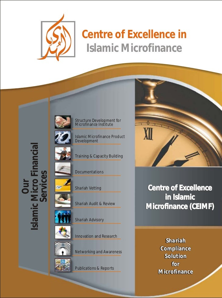 Centre of Excellence in                              Islamic Microfinance                          Structure Development f...
