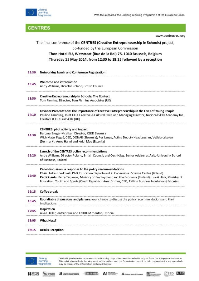 Centres findings and futures summary agenda