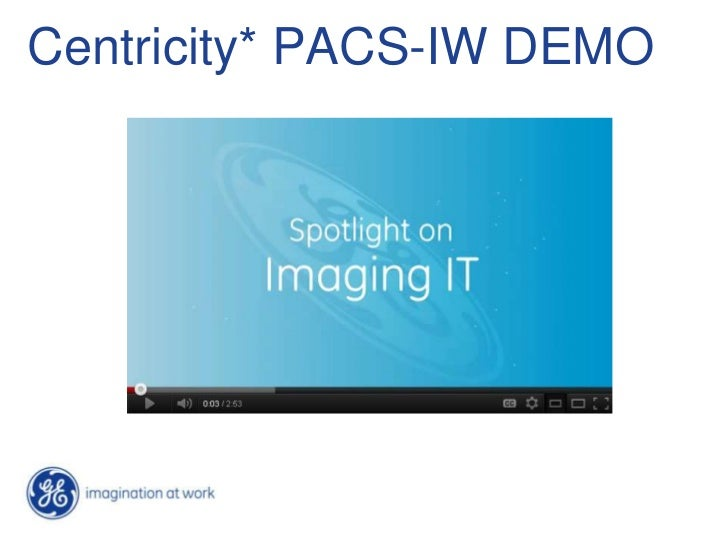 Centricity* PACS-IW DEMO
