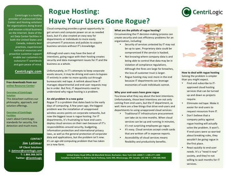 Rogue Hosting: have your users gone rogue?