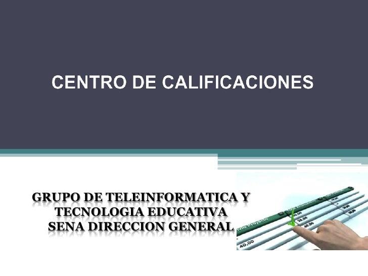 Centro calificaciones