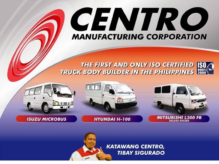 Centro Company Profile Power Point Presentation