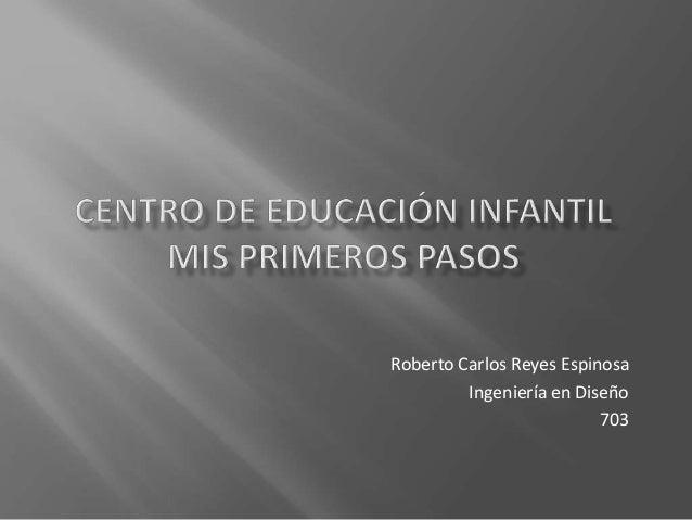 Roberto Carlos Reyes Espinosa Ingeniería en Diseño 703