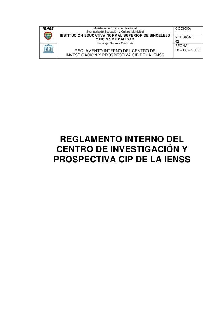 IENSS                    Ministerio de Educación Nacional         CÓDIGO:                     Secretaria de Educación y Cu...