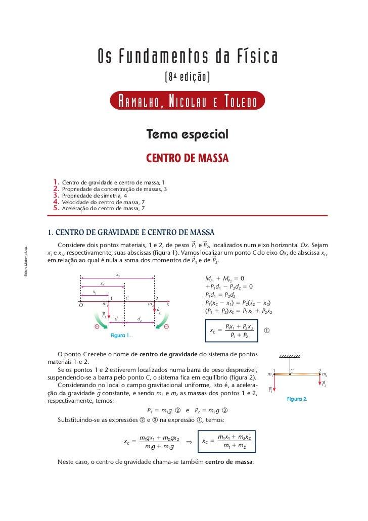 T EMA   ESPECIAL   — CENTRO DE MASSA                                                                                      ...