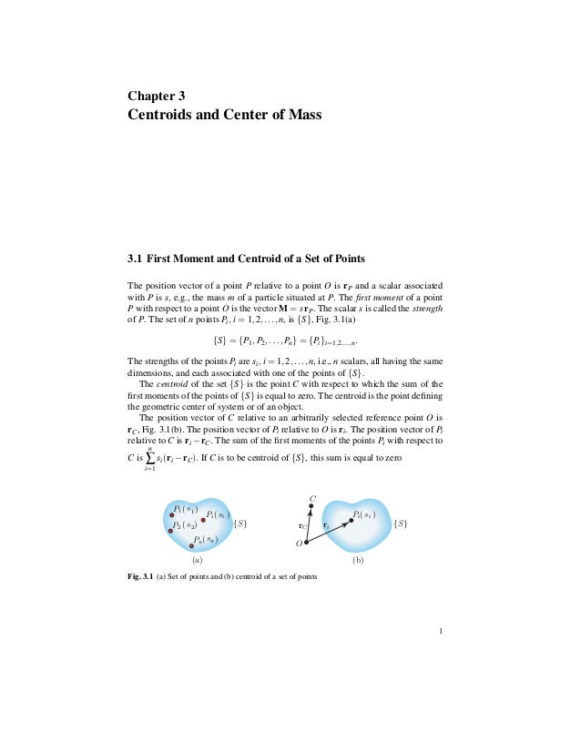 Centroids and center of mass