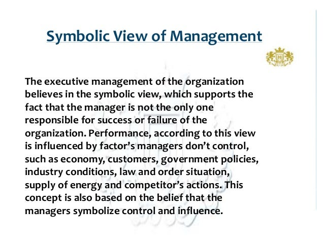 symbolic view of management
