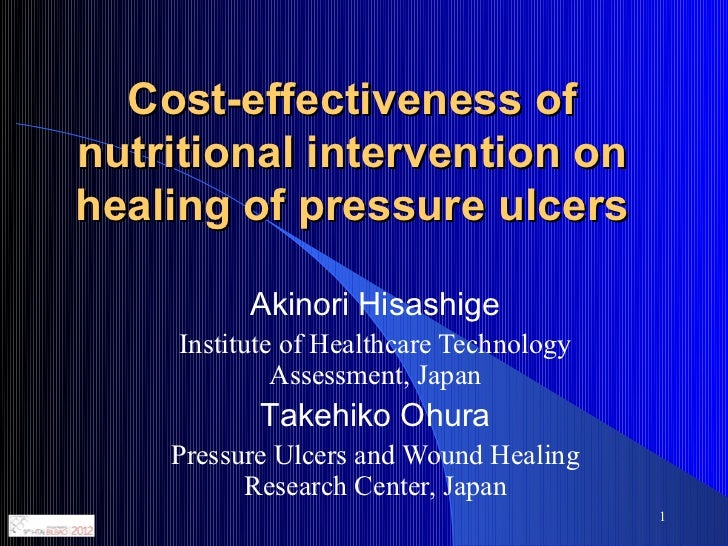 Economic evaluation. Cost-effectiveness of nutritional intervention on healing of pressure ulcers.