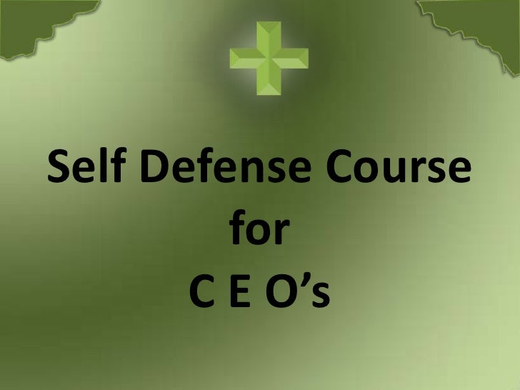 Self Defense Course for C E O's<br />