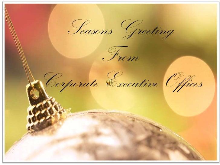 CEO Christmas card