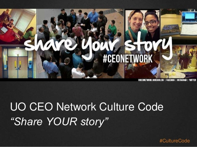 "UO CEO Network Culture Code ""Share YOUR story"" #CultureCode"