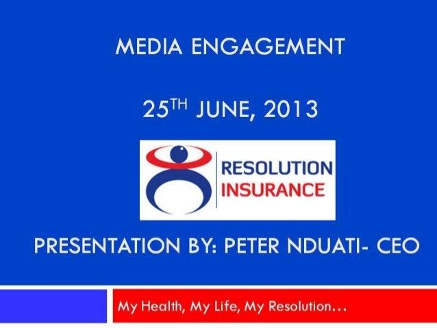 Ceo (peter nduati) presentation on  disease trends