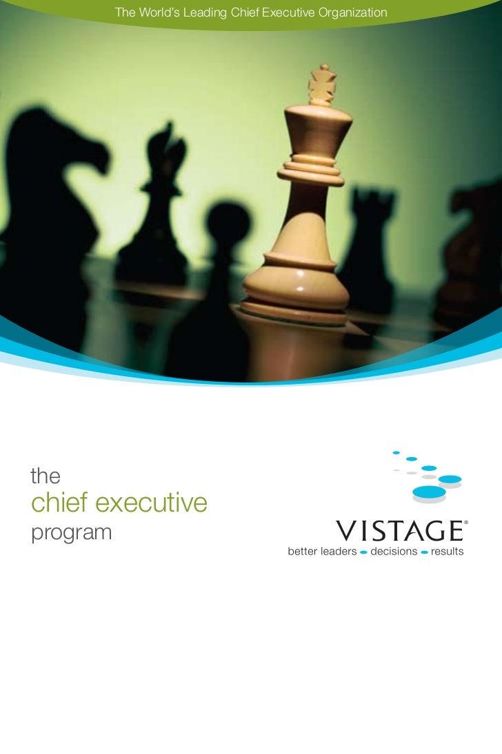 The World's Leading Chief Executive Organizationthechief executiveprogram