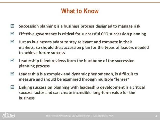 Business Succession Planning Checklist