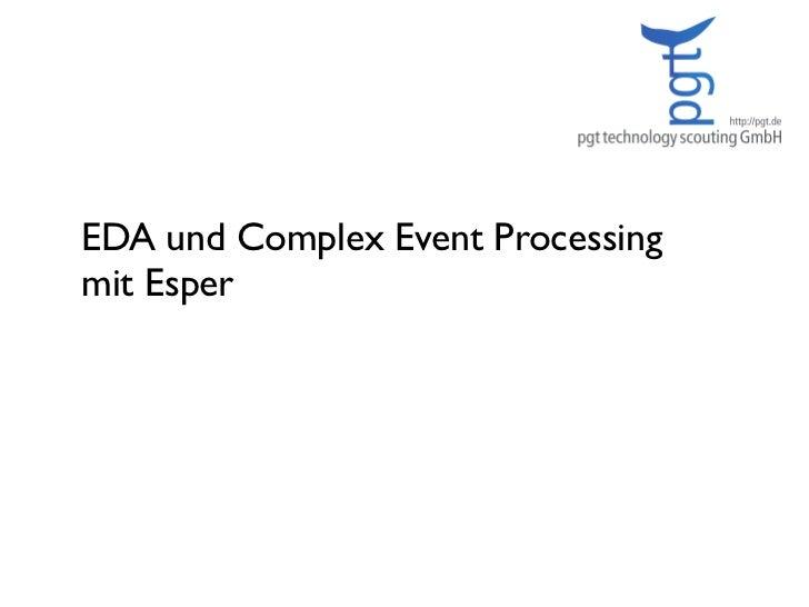 EDA und Complex Event Processing  mit Esper