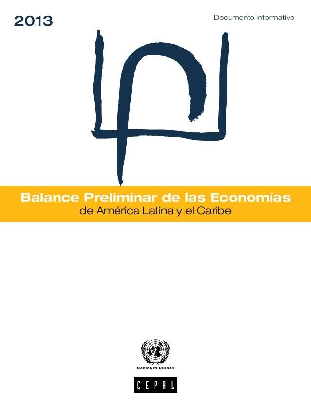 2013  Balance Preliminar de las Economías de América Latina y el Caribe