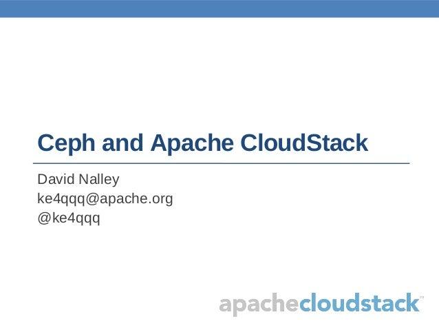Ceph and Apache CloudStack