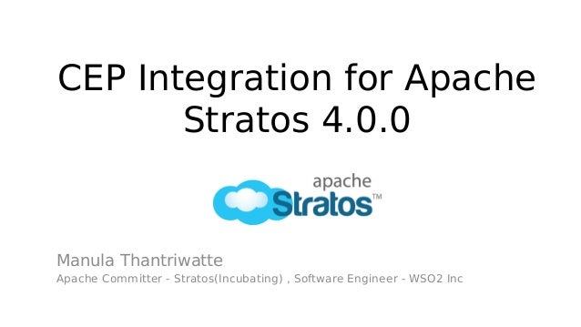 CEP Integration for Apache Stratos 4.0.0