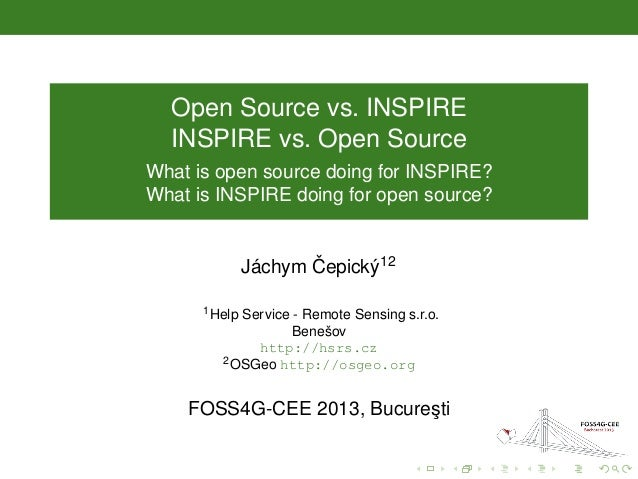 FOSS4G and INSPIRE
