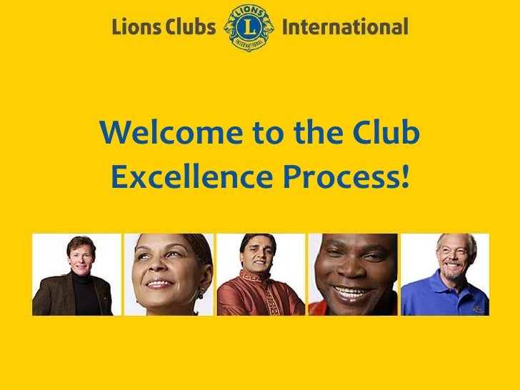 Welcome to the Club Excellence Process!