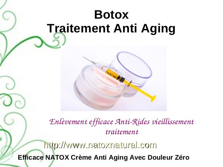 Botox        Traitement Anti Aging        EnlèvementefficaceAntiRidesvieillissement                         traitement...