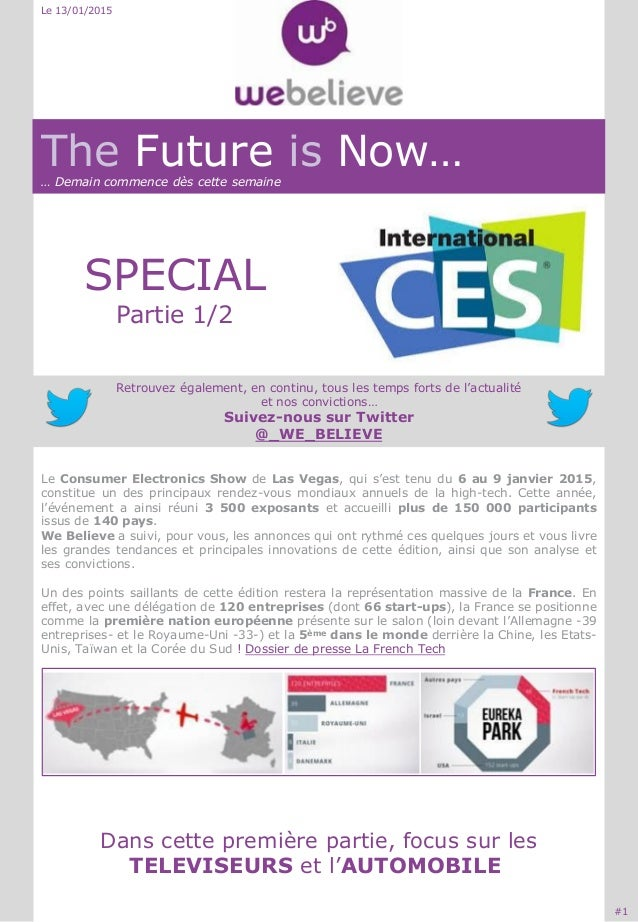 The Future is Now…… Demain commence dès cette semaine SPECIAL Partie 1/2 Retrouvez également, en continu, tous les temps f...