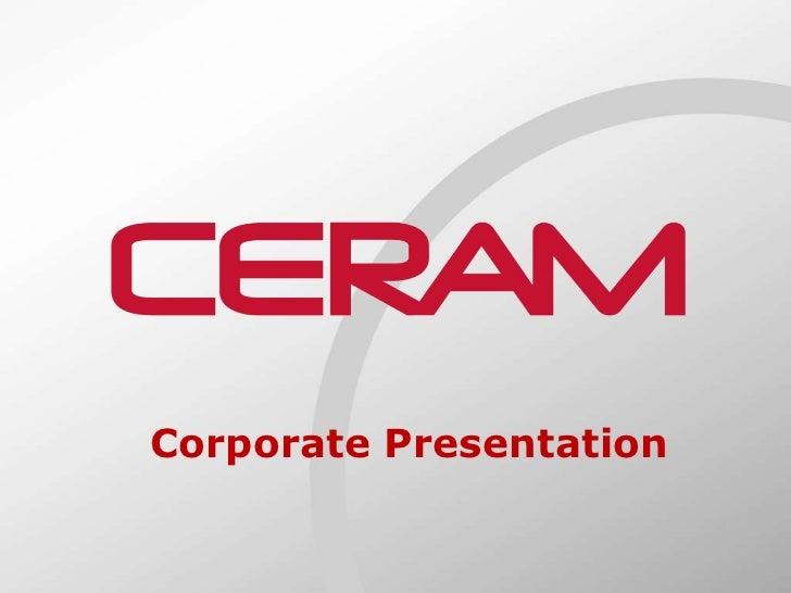 Corporate Presentation Corporate Presentation