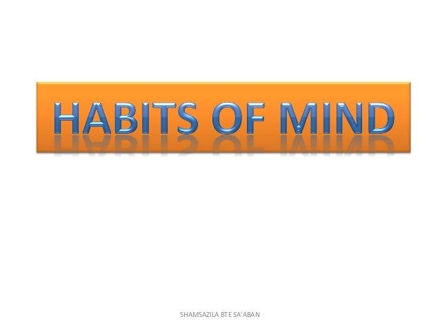 Habits of Mind (tabiat minda)