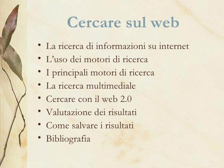 Cercare sul web
