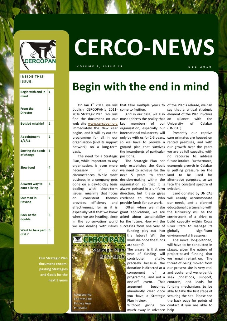 CERCO‐NEWS                                        VOLUME 2, ISSUE 12                                                      ...