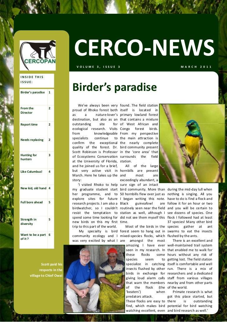 CERCONEWS March 2011
