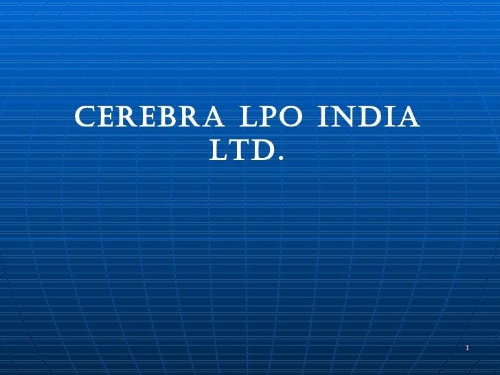 CEREBRA LPO India Ltd.