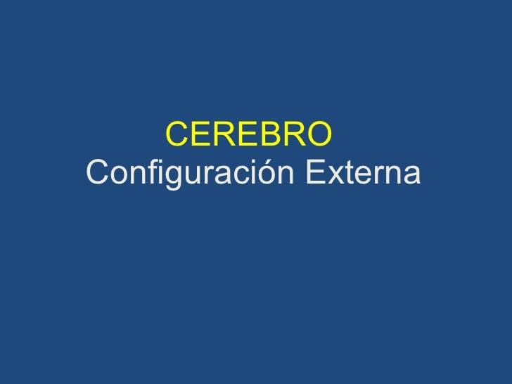 CEREBRO  Configuración Externa