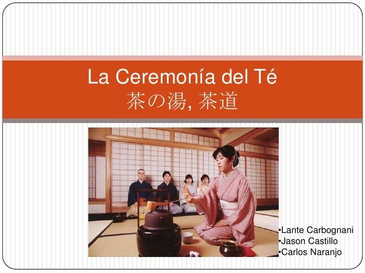 Ceremonia del te (chanoyu)