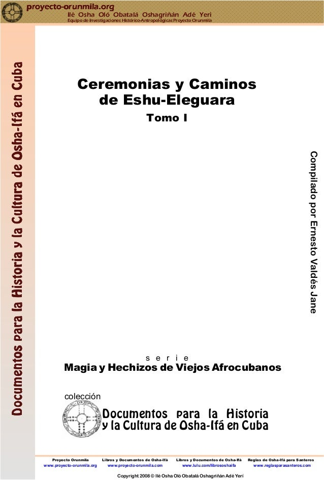 CompiladoporErnestoValdésJane Proyecto Orunmila Libros y Documentos de Osha-Ifá Libros y Documentos de Osha-Ifá Reglas de ...