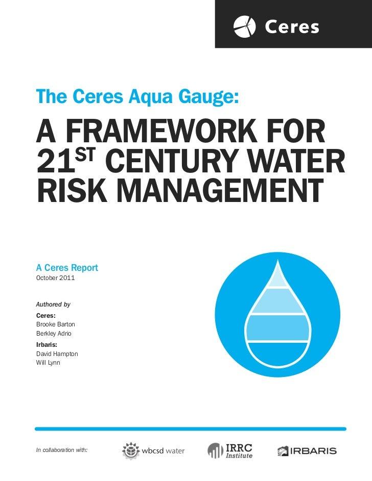 Ceres water risk management