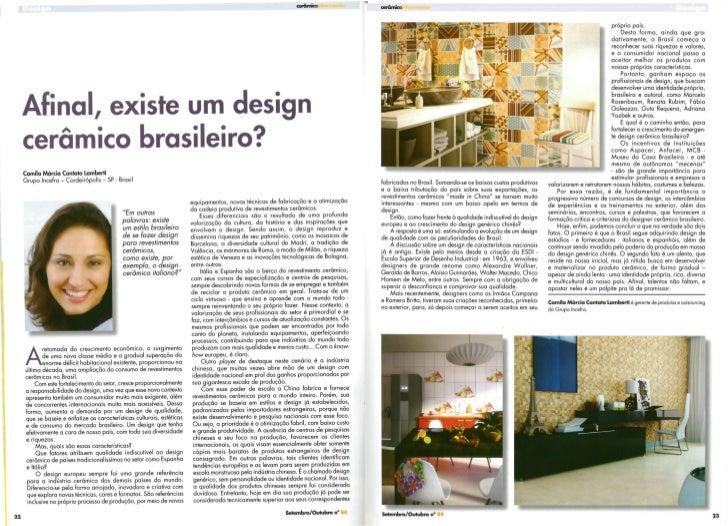 Cerâmica informação - Temos um design brasileiro?